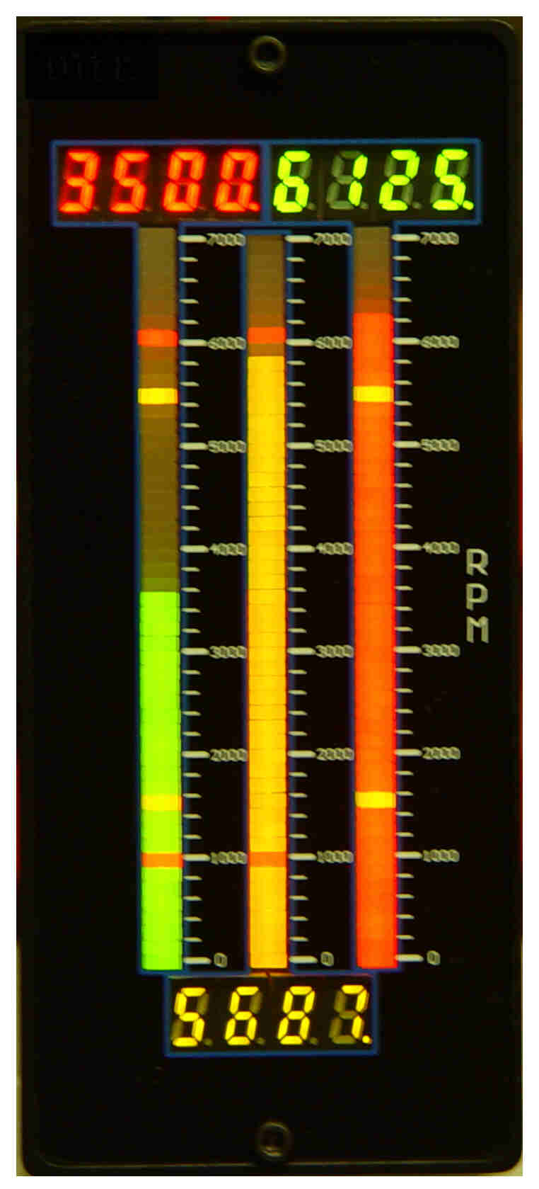 Tri-Color LED bargraph meter replaces Foxboro 257 series